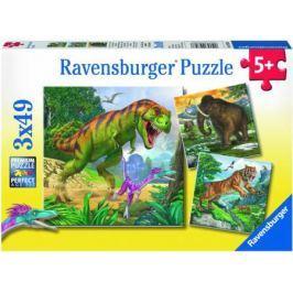 Пазл 3-в-1 147 элементов Ravensburger Первобытные хищники 09358