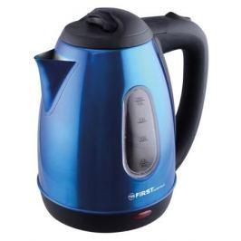 Чайник First FA-5410-5, 1800Вт, 1.8л, окошко, синий