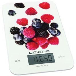 Весы кухонные Polaris PKS 0740DG, макс.вес 7кг, белый/рисунок
