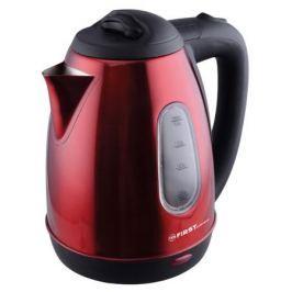 Чайник First FA-5410-6, 1800Вт, 1.8л, окошко, красный