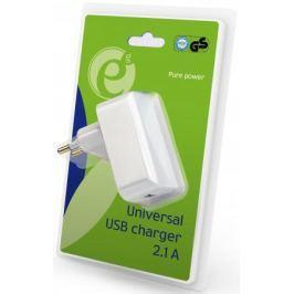 Сетевое зарядное устройство Energenie EG-UC2A-01 2.1A USB белый