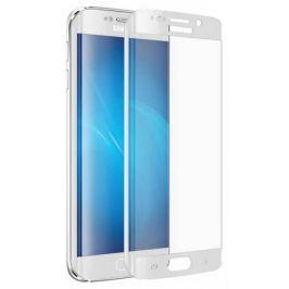 Защитное стекло DF sSteel-16 для Samsung Galaxy S6 Edge sColor-01 white