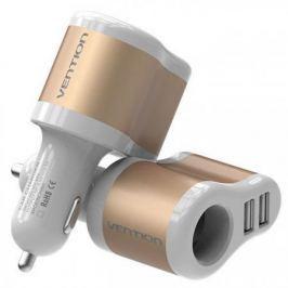 Автомобильное зарядное устройство Vention CJBW0 3.1А 2 х USB золотой