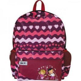 Рюкзак LOVE IS , разм.40 x 33 x 12 , рельефная спинка, светоот.элементы, красный