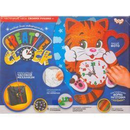 Набор для творчества ДАНКО-ТОЙС Creative clock Котёнок от 5 лет СС-01-01