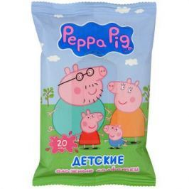 Салфетки влажные Авангард Peppa Pig 20 шт не содержит спирта ароматизированная влажная 4620016300381