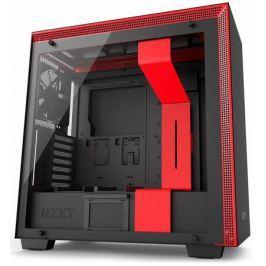 Корпус ATX NZXT H700i Без БП черный красный CA-H700W-BR