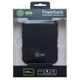 Внешний аккумулятор Power Bank 10400 мАч Cactus CS-PBHTST-10400 черный
