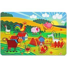 Пазл Wood Toys рамка-вкладка Веселая ферма