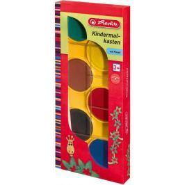 Краски акварельные HERLITZ 6 цветов с кисточкой
