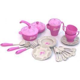 Набор посуды Нордпласт Барби, 21 предмет в сетке Н-639 639