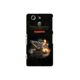 Чехол Deppa Art Case и защитная пленка для Sony Xperia Z3 Compact, Танки_Зверобой,