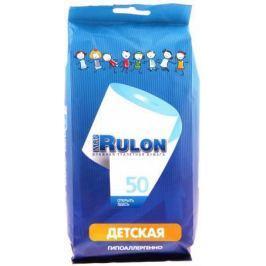 Влажная туалетная бумага Mon Rulon Детская 50 шт не содержит спирта влажная гипоаллергенные