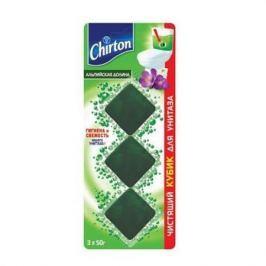CHIRTON Чистящий кубик для унитаза Альпийская долина 3*50г