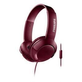 Наушники (гарнитура) Philips SHL3075RD/00 Red Проводные / Накладные с микрофоном / Красный / 9 Гц - 23 кГц / 103 дБ / Mini-jack / 3.5 мм