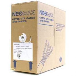 Сетевой кабель бухта 305м UTP 5e Neomax NM10001 Медь, 4 пары(одножильный), 24AWG/0.51мм, 125МГц/89 Ом, PVC, Taiwan