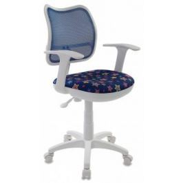 Кресло детское Бюрократ CH-W797/BL/STAR-BL спинка сетка синий звезды