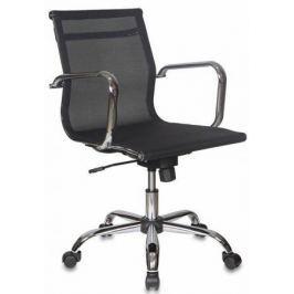 Кресло Бюрократ CH-993-LOW/M01 низкая спинка сетка крестовина хром черный