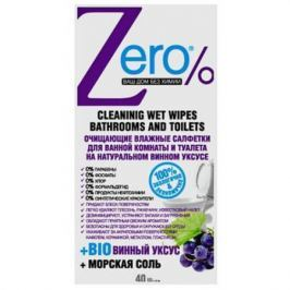 ZERO Салфетки влажные для ванной комнаты и туалета 40 шт