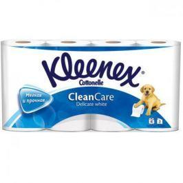 Бумага туалетная Kleenex Clean Care Delicate white 8 шт 2-ух слойная растворяются в воде 9450008