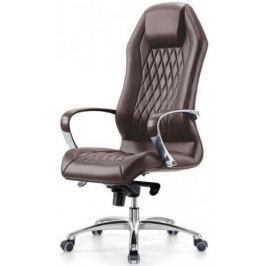 Кресло Бюрократ Aura/Brown кожа коричневый