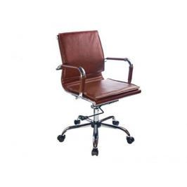 Кресло Buro CH-993-Low/Brown низкая спинка коричневый искусственная кожа крестовина хром
