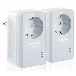 Адаптер TP-LINK TL-PA4010PKIT Базовый комплект адаптеров Powerline стандарта AV500 со встроенной розеткой