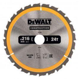 Круг пильный твердосплавный DEWALT DT1952-QZ Ф216/30 24 ATB +20° CONSTRUCTION по дереву с гвоздями
