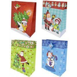 Пакеты подарочные бумажные ламинированные, 260x324x127 мм, 12 видов.