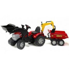 FAL1030W Трактор-экскаватор педальный с прицепом, ковшом FALK FAL1030W красный 225см