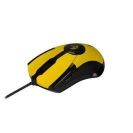 Проводная игровая мышь Jet.A ARROW JA-GH35 жёлтая (800/1200/1600/2400 dpi, 6 кнопок, USB)