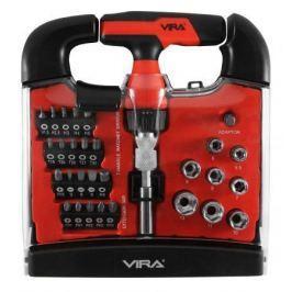 Отвертка реверсивная VIRA 305060 т-образная с набором бит 31 предмет