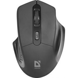 Мышь беспроводная Defender Datum MB-345 Black USB оптическая, 1600 dpi, 3 кнопки + колесо