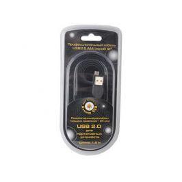 Кабель USB 2.0 AM/microB 5P (microUSB) 1.8м Pro Konoos, черный, блистер KC-mUSB2-AMBM-1.8