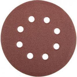 Круг фибровый STAYER MASTER 35452-125-120 8 отверстий велкро P120 125мм 5шт.