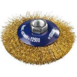 Кордщетка DEXX 35105-100 коническая М14 для УШМ витая сталь0.3мм d100мм