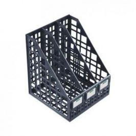 Лоток для бумаг, вертикальный, сборный, 3 отделения, черный ЛТ81