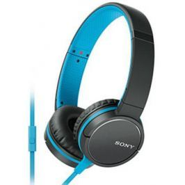 Наушники (гарнитура) SONY MDR-ZX660 синий черный Проводные / Накладные с микрофоном / Черный-синий / 5 Гц - 25 кГц / 104 дБ / Одностороннее / Mini-jack / 3.5 мм