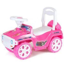 Каталка-машинка с родительской ручкой RT Race Mini Formula 1 розовый ОР856