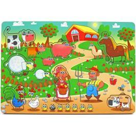 Пазл Wood Toys рамка-вкладка Большая ферма