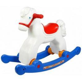 Каталка-качалка R-Toys Лошадка-трансформер пластик от 8 месяцев на колесах белый ОР146в2