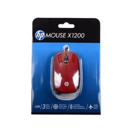 Мышь HP X1200 Wired Red Mouse (H6F01AA#ABB)