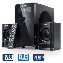 Колонки Sven MS-2000, чёрный, акустическая система 2.1, мощность(RMS):18Вт+2х11 Вт, FM-тюнер, USB/SD, дисплей, ПДУ