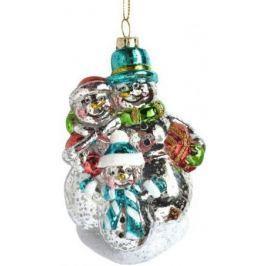 Елочные украшения Новогодняя сказка Снеговики 12 см 1 шт пластик 972882