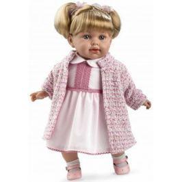 Arias ELEGANCE мягк кукла 42 см., в одежде роз., с соской, со звук. эфф. смех (3хLR44/AG13), в кор.