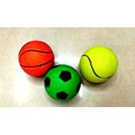 1toy набор мячей, резиновые, 5,5 см 3 шт в ассорт., в сетке