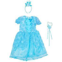 Карнавальный костюм Новогодняя сказка Зимняя принцесса 65 см, голуб., ободок, палочка