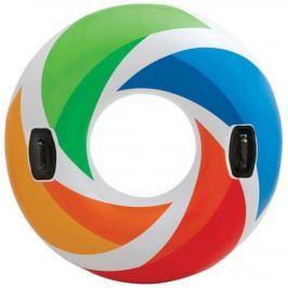 Надувной круг Intex цветн.вихрь с ручками 122см от 12лет