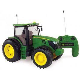 Tomy John Deere 6190R трактор 1:16 на р/у с пультом,с подсветкой и звуком,24х38х19см,кор.