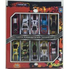 1toy Драйв, металлическая машинка, стрит-рейс, фривил, 8см, набор 10шт, коробка